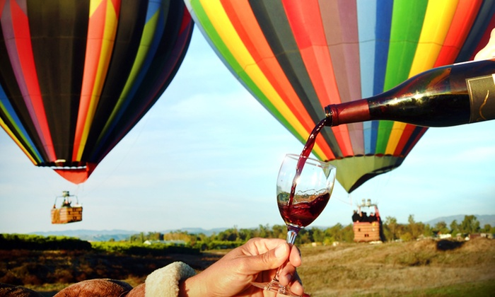 Sunrise Balloons - Temecula: Sunrise Hot Air Balloon Ride with Bottle of Wine from Sunrise Balloons ($468 Value)