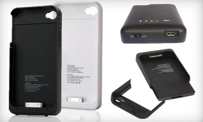 more photos 0fef7 41f2c $29 for an iPhone 4/4S External Battery Charging Case in Black or White  ($89 Value). Shipping Included.