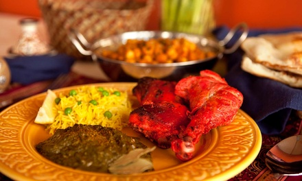 Indian Cuisine at Saffron Indian Restaurant (Up to 50% Off). Two Options Available.