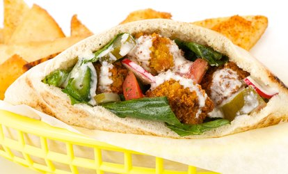 image for $22 or $44 Worth of Food at Hubbly Bubbly Falafel Shop