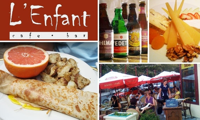 L'Enfant Cafe & Bar - Adams Morgan: $15 for $35 Worth of French Cafe Fare and Belgian Beer at L'Enfant Café & Bar
