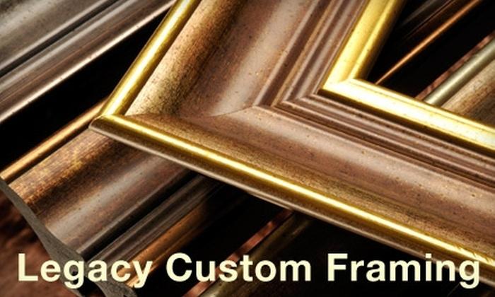 Legacy Custom Framing - Danville: $39 for $100 Toward Custom Framing at Legacy Custom Framing in Danville