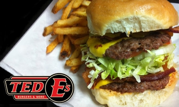 Ted E's Burgers & More - Summerfields: $10 for $20 Worth of Gourmet Burgers and Sandwiches at Ted E's Burgers & More