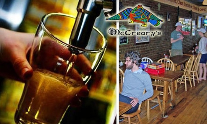 McCreary's Irish Pub & Eatery - Franklin: $10 for $20 Worth of Irish Fare and Drinks at McCreary's Irish Pub & Eatery in Franklin