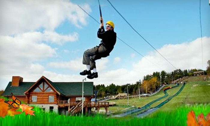 Chicopee Tube Park - Centreville Chicopee: Zipline Rides at Chicopee Tube Park