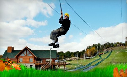 1-Day Pass that Includes 4 Zipline Rides During Zip-Oktoberfest (a $45 value) - Chicopee Tube Park in Kitchener