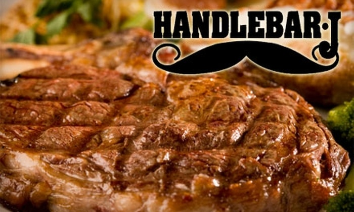 Handlebar-J Restaurant and Saloon - Central Scottsdale: $18 for $40 Worth of Steaks, Barbecue Ribs, and More at Handlebar-J Restaurant and Saloon