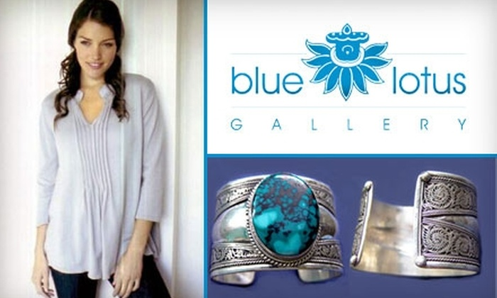 Blue Lotus Gallery - Center City East: $35 for $75 Worth of Clothing, Jewelry, and Gifts at Blue Lotus Gallery
