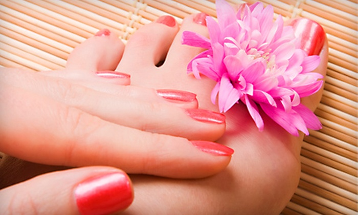 Le Belle Nails & Spa - Eldridge - West Oaks: Spa Pedicure and Either Deluxe or Shellac Manicure at Le Belle Nails & Spa (Up to 62% Off)