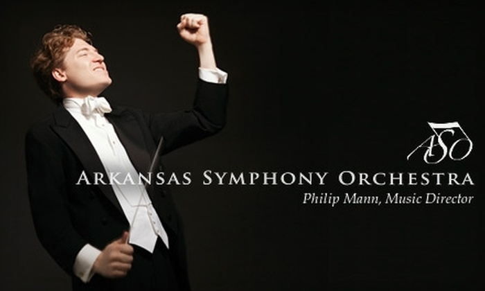 "Ticket to Arkansas Symphony Orchestra's ""Spookfest,"" ""New World"" Masterworks, or ""Titan"" Masterworks Performances. Choose from Two Ticket Levels and Six Performances."