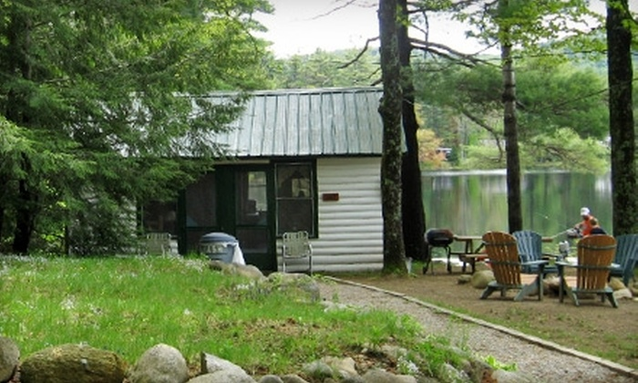 Hide-A-Way Waterfront Cottages - Lake Luzerne: One-Night Stays at Hide-A-Way Waterfront Cottages in Lake Luzerne. Two Options Available.