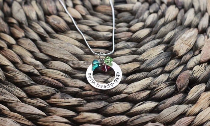 Love Stamped: $19 for a Personalized Hand-Stamped Sweet Circle of Love Necklace from Love Stamped ($40 Value)