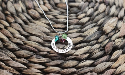 $19 for a Personalized Hand-Stamped Sweet Circle of Love Necklace from Love Stamped ($40 Value)