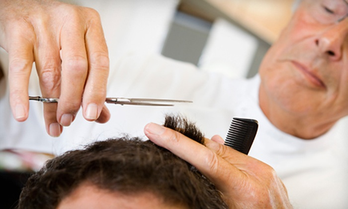 Mirrors Barbershop - Silver Spring: Men's Haircut with Straight-Razor Shave or Kid's Haircut at Mirrors Barbershop in Silver Spring (Up to 51% Off)