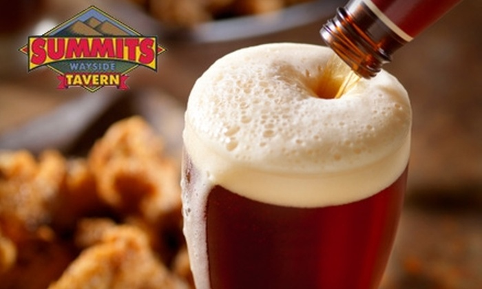 Summits Wayside Tavern - Multiple Locations: $10 for $20 Worth of Pub Fare and Drinks at Summits Wayside Tavern