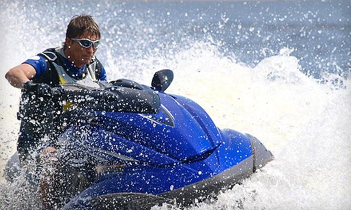 Hayley's Jet Ski & Boat Rental - Melbourne: Half-Hour Jet Ski Rental or Four-Hour Powerboat or Sailboat Rental at Hayley's Jet Ski & Boat Rental in Melbourne