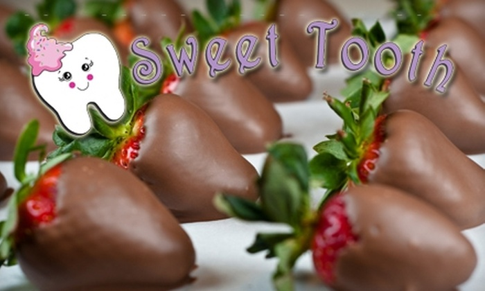 Sweet Tooth - Huntersville: $8 for One Pound of Chocolate-Covered Strawberries or 12 Handmade Truffles at Sweet Tooth in Huntersville (Up to $16 Value)