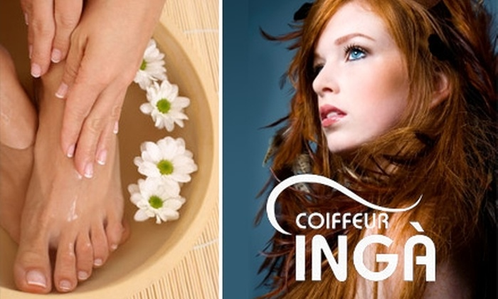 Coiffeur Inga Salon - Citrus Park-Fern Lake: $49 Mani-Pedi, Facial Wax, and Keratin-Infusion Treatment at Coiffeur Inga Salon (Up to $148 Value)