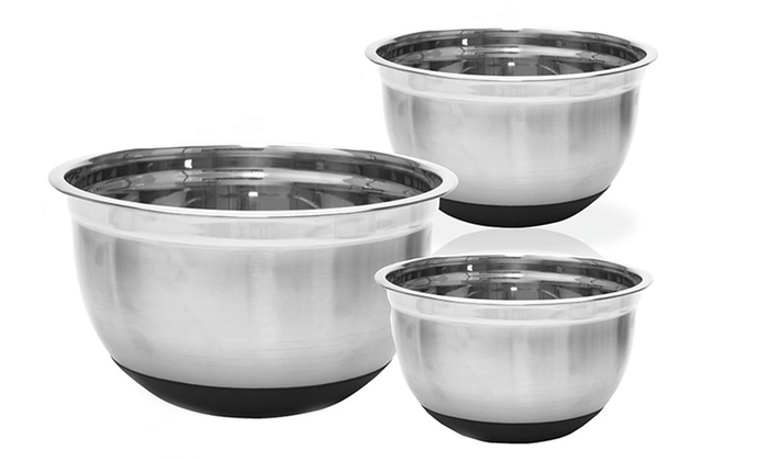 Three-Piece Stainless Steel Mixing Bowl Set: Three-Piece Stainless Steel Mixing Bowl Set. Free Returns.