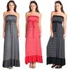 Striped Contrast Maxi Dress