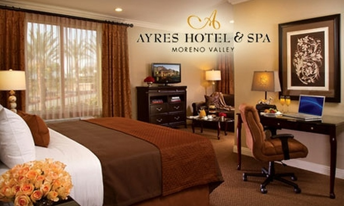 Ayres Hotel & Spa Moreno Valley - Moreno Valley: $154 for Ayres Hotel & Spa Moreno Valley Overnight and Two 60-minute Spa Services (up to $308 value)