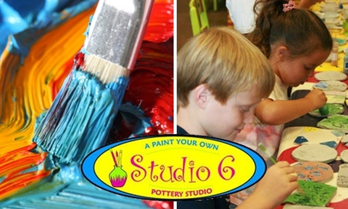 Studio 6 Pottery - Ocoee: $15 for $30 Worth of Paint-Your-Own Pottery and Glass Fusing at Studio 6 Pottery