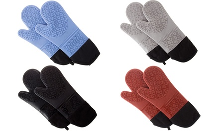 Lavish Home Extra-Long Silicone Oven Mitts (1 Pair)