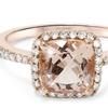 2.65 CTTW Genuine Morganite & Diamond Ring in 14K Gold By Bliss Diamond