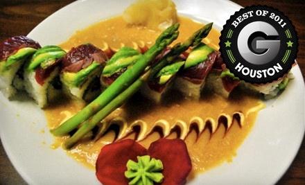 $40 Groupon to Wazabi Sushi Bar - Wazabi Sushi Bar in Humble