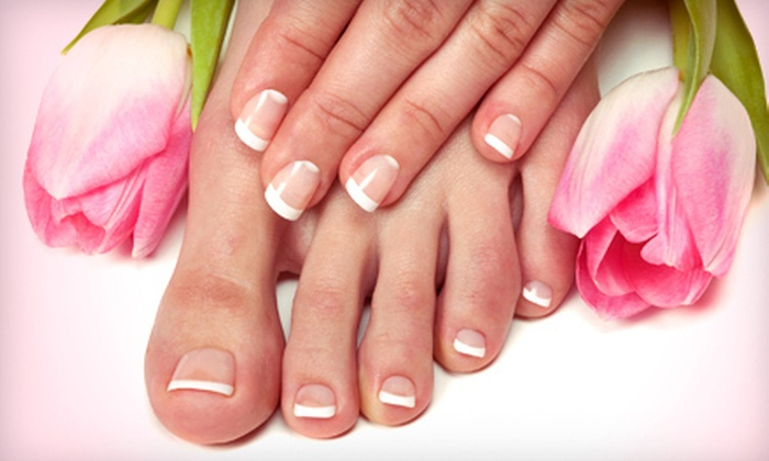 Riah Hair & Nail Studio - Fairfield: One or Two Shellac Manicures with Signature Pedicures at Riah Hair & Nail Studio in Fairfield (Up to 58% Off)