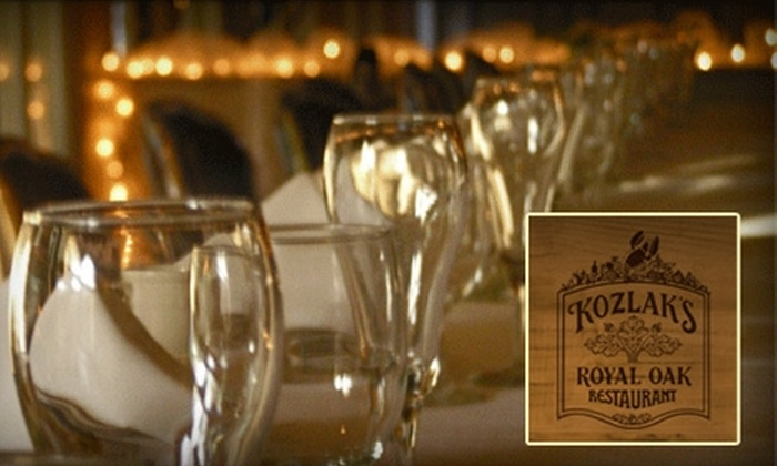 Kozlak's Royal Oak Restaurant, Weddings and Events - Arden Hills - Shoreview: $30 for $60 of Fine Dining at Kozlak's Royal Oak Restaurant, Weddings and Events.