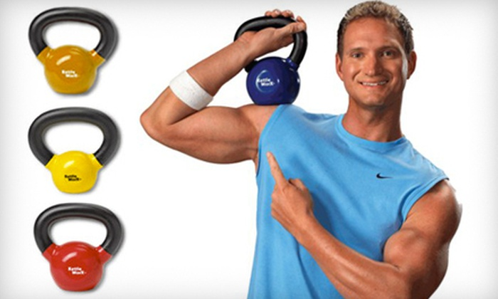 Kettlebell Workout System: 5-, 10-, or 15-Pound KettleWorx Ultra Kettlebell Workout System with 10 Workout DVDs and Eating Guide (Half Off)