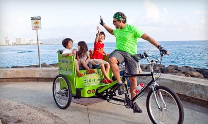 Honolulu Pedicab Company - Downtown Honolulu: $45 for a 45-Minute Tour for Two from Honolulu Pedicab Company ($90 Value)