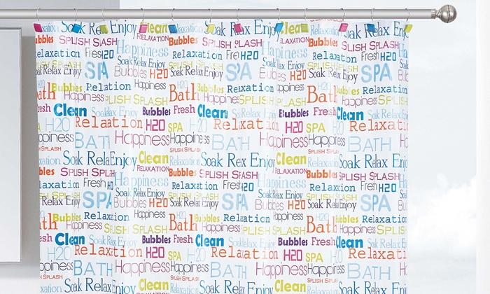Bath Words Peva Shower Curtain Groupon Goods