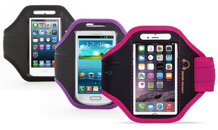 Gear Beast Premium Sports Armband with Key Pocket for Apple iPhones, Samsung Galaxy, and Note Smartphones