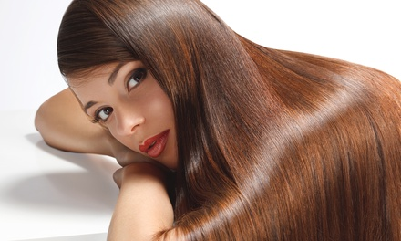 Haircut with Style, Partial Highlights, or Tint Touch-Up and an Extra Color Bowl at Salon Cartier (Up to 51% Off)