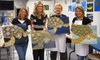 Fear No Easel - Social Art - Mount Pleasant: $35 for a Two-Hour Painting Class for Two People and Two Souvenir Wineglasses at Fear No Easel in Mount Pleasant ($82 Value)