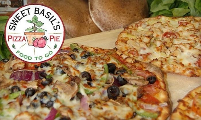 Sweet Basil's Pizza Pie - Cedar Rapids: $9 for $18 Worth of Food at Sweet Basil's Pizza Pie