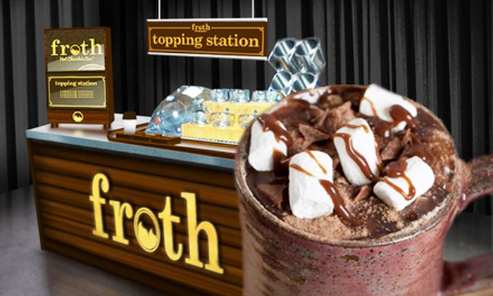Forever Yogurt - Multiple Locations: $5 for $10 Worth of Sippable Treats and Frozen Yogurt from the Froth Hot-Chocolate Bar at Forever Yogurt. Valid at Three Locations.