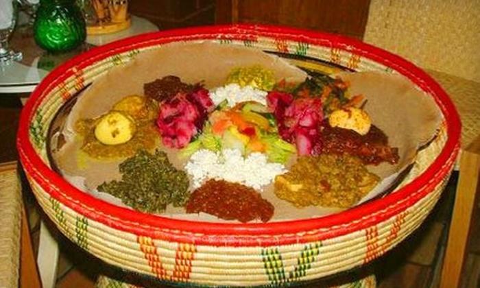 Demera Ethiopian Restaurant - Uptown: Prix Fixe Ethiopian Dinner for Two or Four at Demera Ethiopian Restaurant