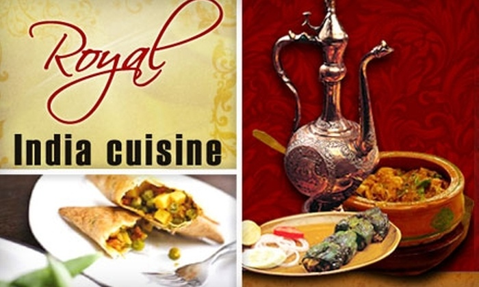 Royal India Cuisine - Downtown: $12 for $25 Worth of Authentic Indian Fare and Drinks at Royal India Cuisine