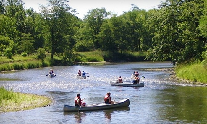 Larsen's Landing Outfitters - Rockford: $30 for a One-Day Canoe Trip for Two from Larsen's Landing Outfitters in Rockford ($60 Value)