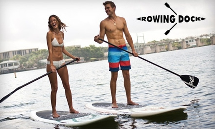 Rowing Dock - West Lake Hills: Kayak or Stand-up Paddle Board Rental from Rowing Dock and Austin Paddle Sports. Choose Between Two Options.