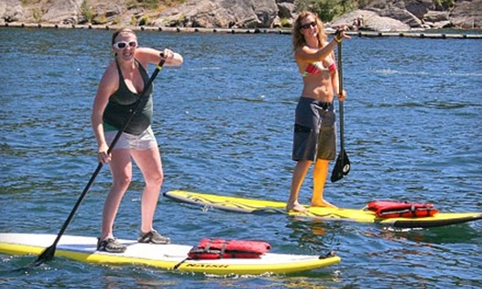 ROW Adventure Center - Coeur d'Alene: $35 for a Two-Hour Stand-Up Paddleboarding Lesson and Tour at ROW Adventure Center in Coeur d'Alene ($70 Value)