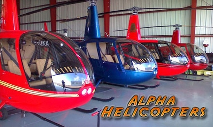 Alpha Helicopters - Multiple Locations: Helicopter Tour for Three People and a Matted, Framed Aerial Photo from Alpha Helicopters (Up to $319.96 Value). Choose from Three Options.