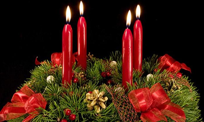 Vase One Floral Design Studio - Temple Crest: $53 for a Holiday Pine Arrangement from Vase One Floral Design Studio ($107 Value)