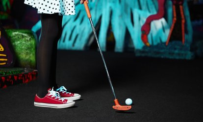image for Three Games of <strong>Mini Golf</strong> for Two, Four, or Six, or <strong>Mini Golf</strong> and Laser Maze for Two at Glowgolff (Up to  49%Off)