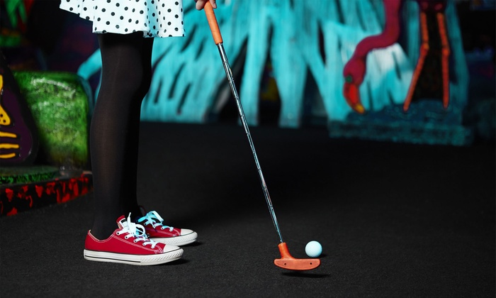 Glowgolf - Westmere: Three Games of Mini Golf for Two, Four, or Six, or Mini Golf and Laser Maze for Two at Glowgolf (Up to  48%Off)