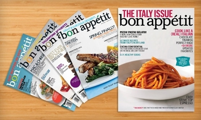 """Bon Appetit"" Magazine - Davis Square: $7 for 12 Issues of ""Bon Appetit"" Magazine"