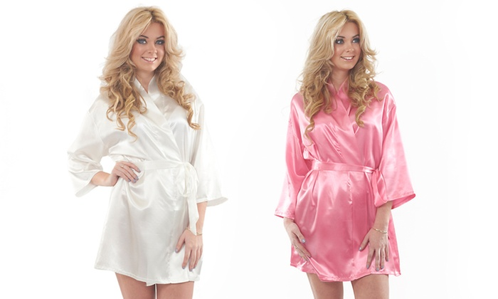 Satin Dressing Gown (70% Off) | Groupon Goods